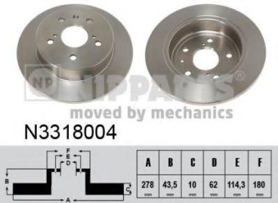 Тормозной диск  арт. N3318004