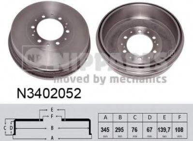 Гальмiвний барабан NIPPARTS N3402052