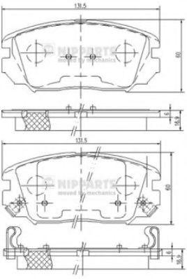 Комплект тормозных колодок  арт. N3600543