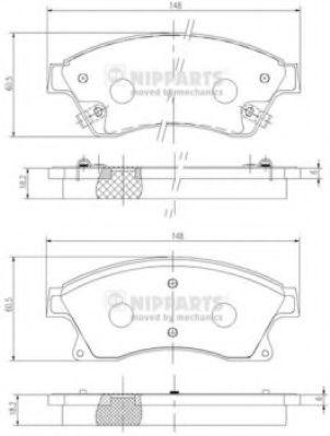 Комплект тормозных колодок  арт. N3600914