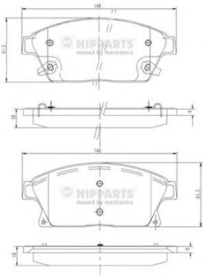 Комплект тормозных колодок, дисковый тормоз  арт. N3600915