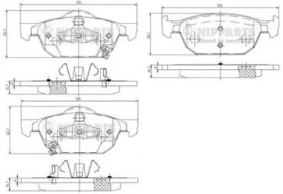 Комплект тормозных колодок, дисковый тормоз  арт. N3604067