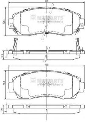 Колодки тормозные диск. Honda CR-V 07- (пр-во Nipparts)                                               арт. N3604073