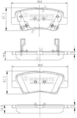 Комплект тормозных колодок  арт. N3610311