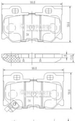 Комплект тормозных колодок  арт. N3611053