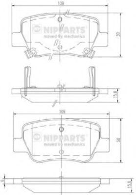Тормозные колодки дисковые NIPPARTS N3612042