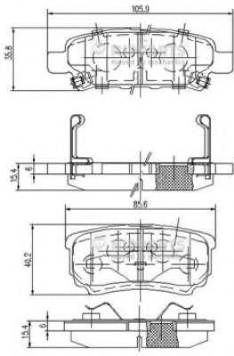 Тормозные колодки дисковые NIPPARTS N3615015