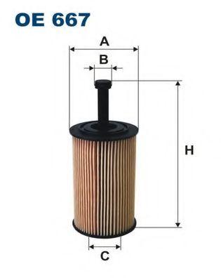 Фильтр масляный PSA Berlingo, C2/3, 206,306,307 DENCKERMANN арт. OE667