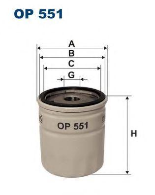 Фильтр масляный FO, OP -90, ROVER Mini -00 MAHLE/KNEСHT арт. OP551