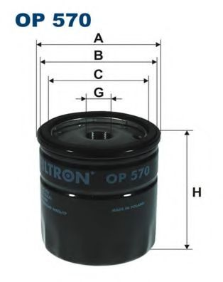 Фильтр масляный двигателя WIX FILTERS арт. OP570