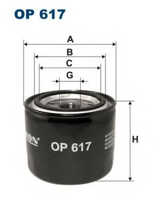 Фильтр масляный HY Accent, KIA Cee`d, MA3/6, MI JAPANPARTS арт. OP617