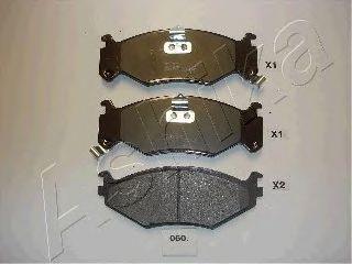 Комплект тормозных колодок, дисковый тормоз (пр-во ASHIKA)                                            арт. 5000060