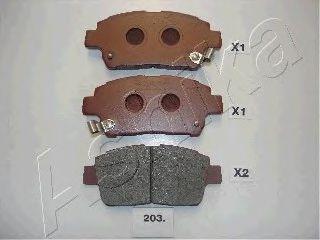 Колодка торм. TOYOTA COROLLA (пр-во ASHIKA)                                                           арт. 5002203