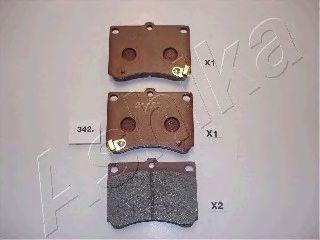 Колодка торм. MAZDA 323 (пр-во ASHIKA)                                                               ASHIKA 5003342