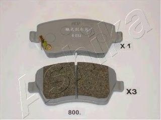 Колодки гальмівні дискові передн. Nissan Micra 10- ASHIKA 5008800