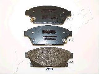 Комплект тормозных колодок, дисковый тормоз (пр-во ASHIKA)                                            арт. 500WW13