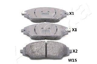 Комплект тормозных колодок, дисковый тормоз (пр-во ASHIKA)                                            арт. 500WW15