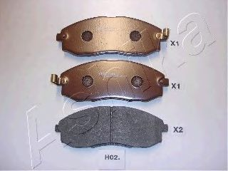 Колодка торм. HYUNDAI H-1 (пр-во ASHIKA)                                                             ASHIKA 50H0002