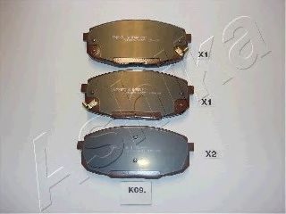 Колодка торм. HYUNDAI i30 (пр-во ASHIKA)                                                             ASHIKA 50K0009