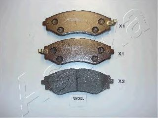 Колодка торм. CHEVROLET LACETTI, передн. (пр-во ASHIKA)                                              ASHIKA 50W0005