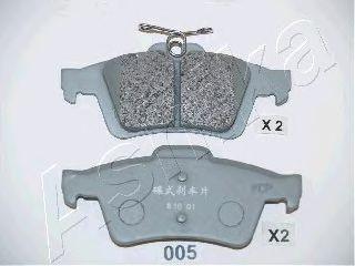 Колодка торм. MAZDA 3 (пр-во ASHIKA)                                                                  арт. 5100005