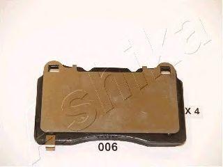 Комплект тормозных колодок, дисковый тормоз (пр-во ASHIKA)                                            арт. 5100006
