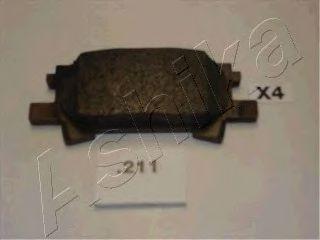 Колодка торм. LEXUS RX (пр-во ASHIKA)                                                                ASHIKA 5102211
