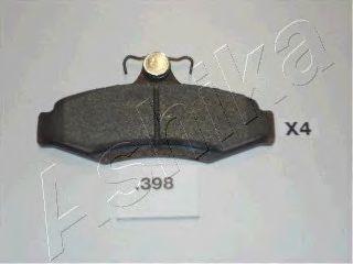 Комплект тормозных колодок, дисковый тормоз (пр-во ASHIKA)                                            арт. 5103398