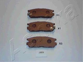Комплект тормозных колодок, дисковый тормоз  арт. 5109999