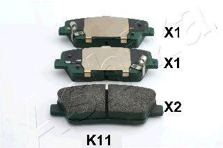 Комплект тормозных колодок, дисковый тормоз (пр-во ASHIKA)                                            арт. 510KK11