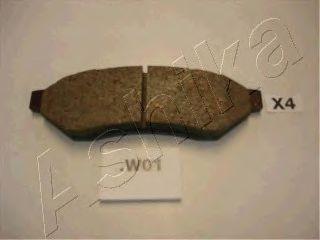 Колодка торм. DAEWOO EVANDA (пр-во ASHIKA)                                                            арт. 510WW01