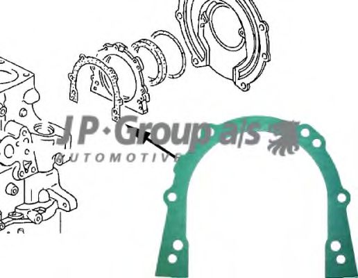 Прокладка картера Прокладка, крышка картера (блок-картер двигателя) JPGROUP арт. 1119100100