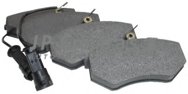 JP GROUP AUDI Тормозные колодки перед. 80,100,200 (с датчиком) JPGROUP 1163602310