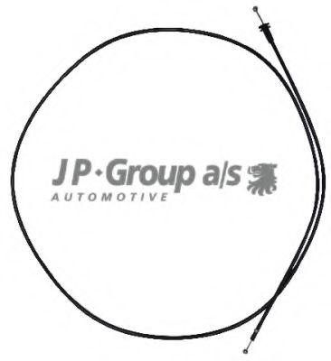 JP GROUP SKODA Трос замка капота Octavia 96- JPGROUP 1170701100