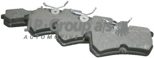 Комплект тормозных колодок, дисковый тормоз  арт. 1563700410