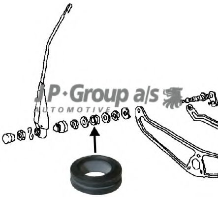 Рычаг стеклоочистителя Ущільнювач склоомивача VW T2 68-79 JPGROUP арт. 8198151402