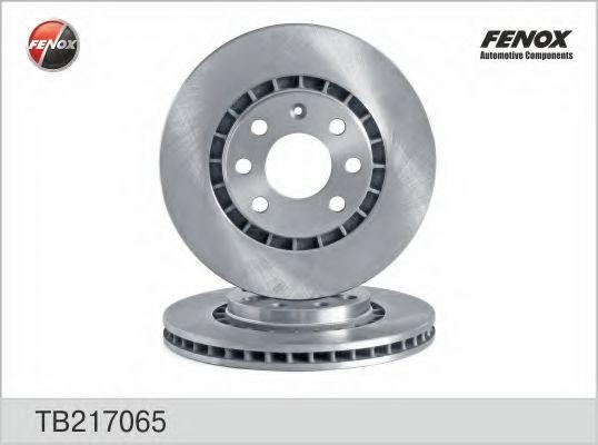Диск тормозной передний вентилируемый FENOX TB217065
