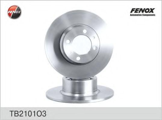 Диск тормозной невентилируемый FENOX TB2101O3