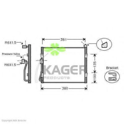 Радіатор кондиціонера KAGER 945164