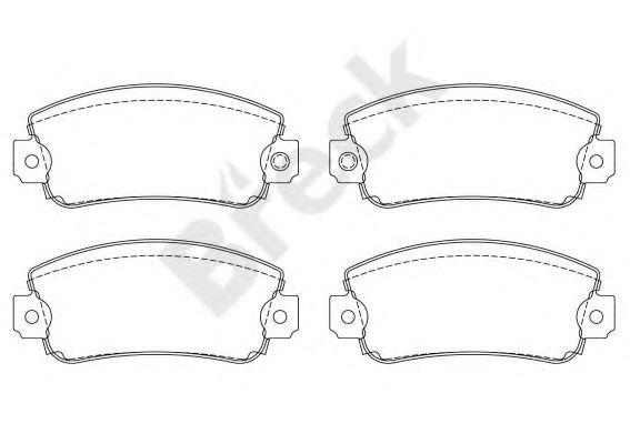 Комплект тормозных колодок, дисковый тормоз  арт. 209500070210