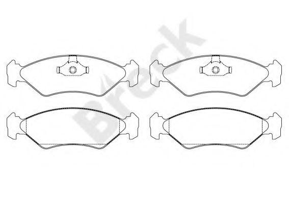 Комплект тормозных колодок, дисковый тормоз  арт. 212020070200