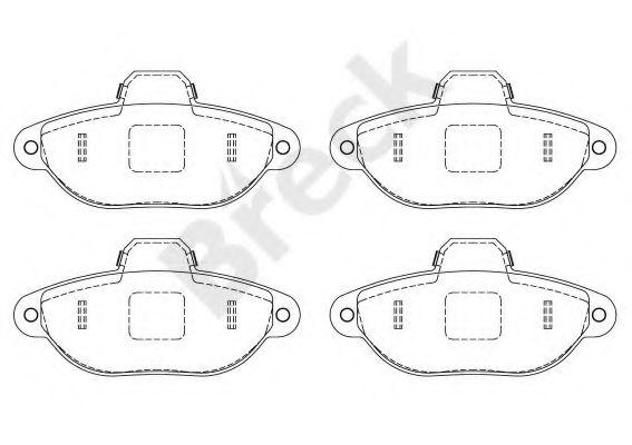 Комплект тормозных колодок, дисковый тормоз  арт. 214360070200