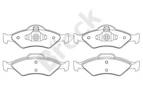 Комплект тормозных колодок, дисковый тормоз  арт. 232000070200