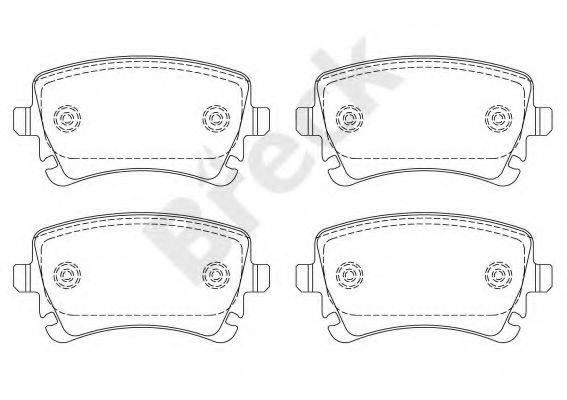 Колодки тормозные (задние) VW T5 1.9TDI/2.5TDI 03- (Lucas)  арт. 233260070200