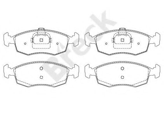 Комплект тормозных колодок, дисковый тормоз  арт. 235520070200