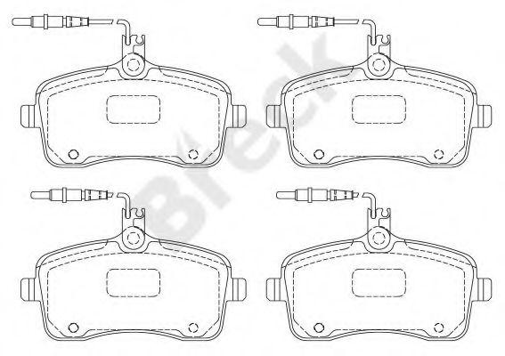 Гальмівні колодки передн. Peugeot 407 1,6HDi 1,8/2,0/2,0HDi 2004-  BRECK 241340070110