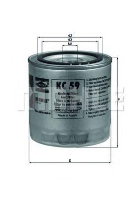 Фильтр топливный Mahle MAHLEORIGINAL KC59