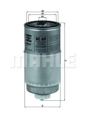 Фильтр топливный Mahle MAHLEORIGINAL KC69