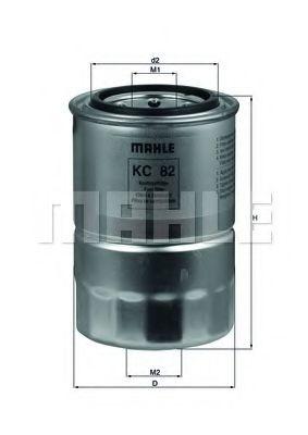 Фильтр топливный Mahle  арт. KC82D