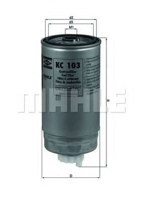 Фільтр палива  арт. KC103